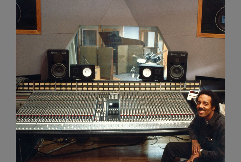 Reggie at his Quantum Sound Studios